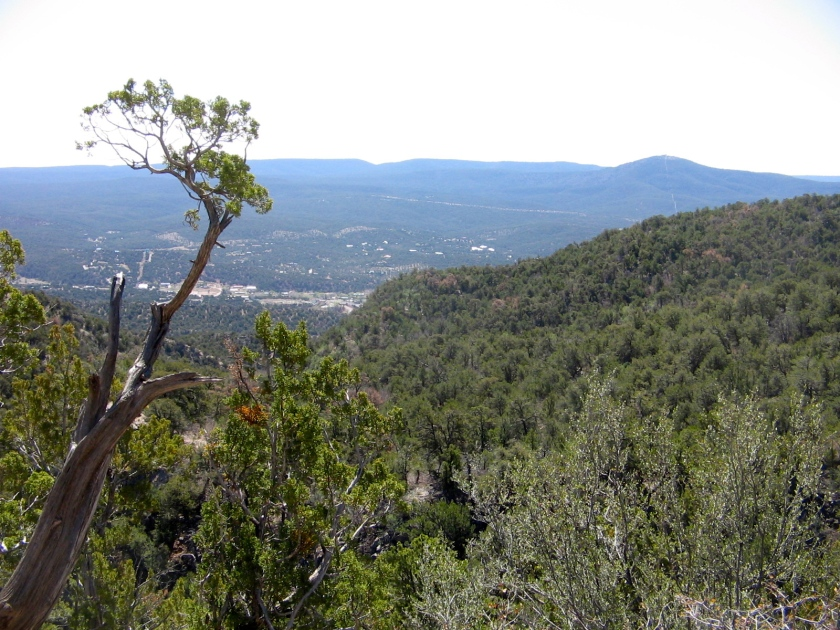 View towards Tijeras.  Cedro Peak in upper right corner.