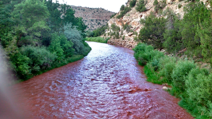 Pecos River--imagine it as a flow of melted chocolate.
