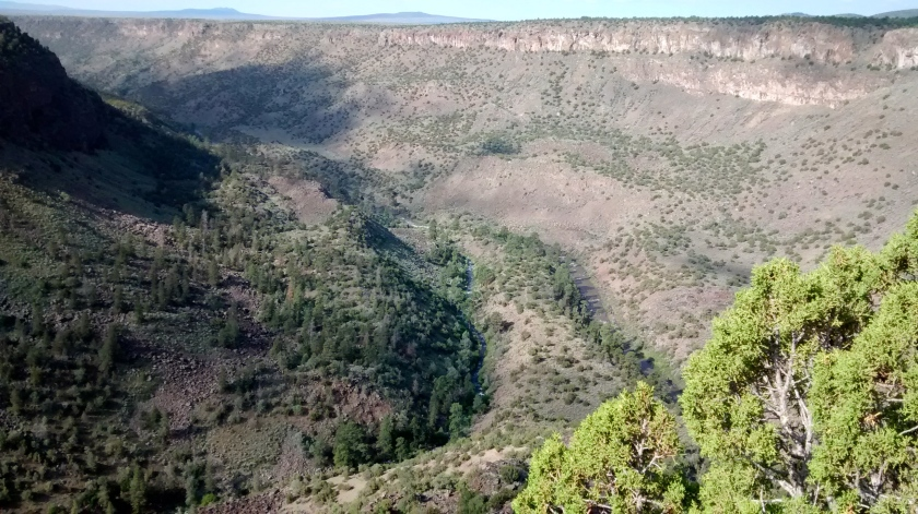 Overlook at La Junta Point.  800 feet below is the point where the Red River joins the Rio Grande River.