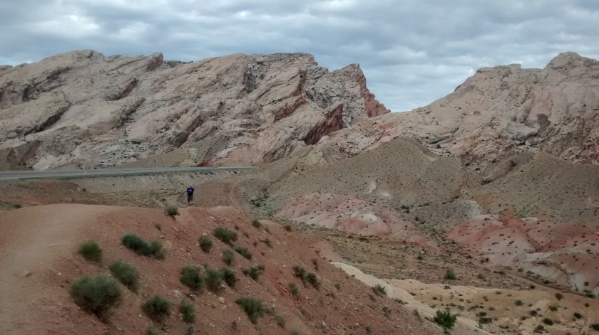 San Rafael Reef, a large anticline west of Green River, Utah.