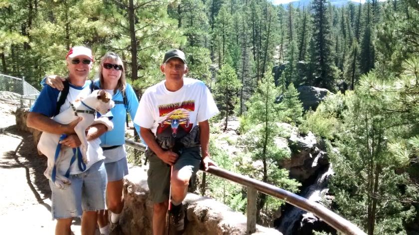Jemez Falls overlook