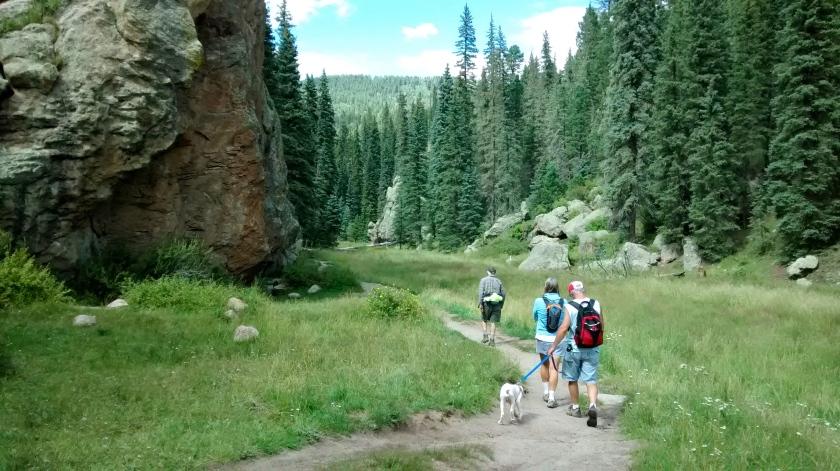 The East Fork of the Jemez trail near Las Conchas trailhead.