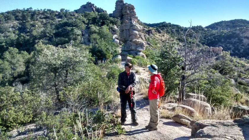 Enjoying Bug Spring Trail hike.