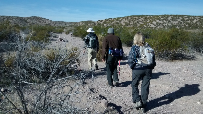 First half of Chupadera Trail is a long trek across the desert from the wildlife refuge to the Chupadera Mountains.
