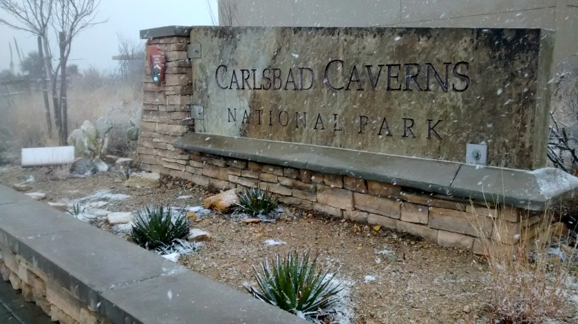 Didn't expect to see snow in Carlsbad.