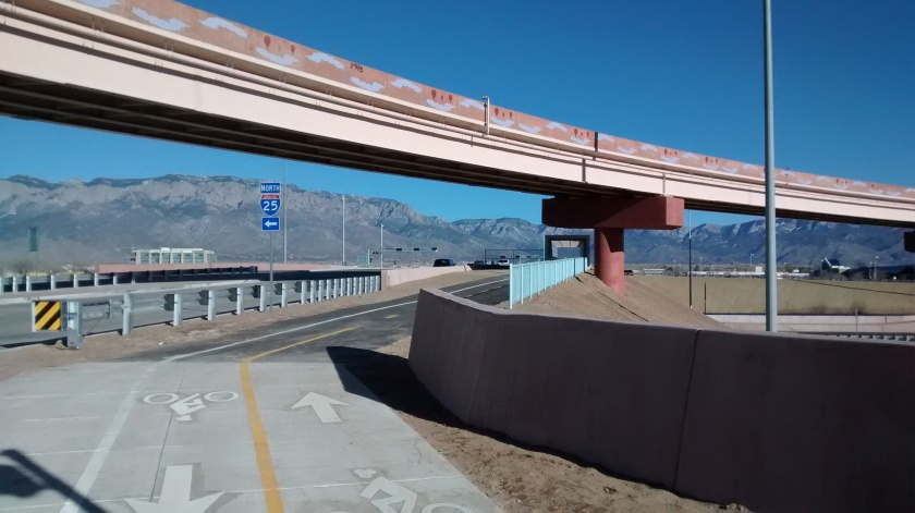 Approaching the new interchange.