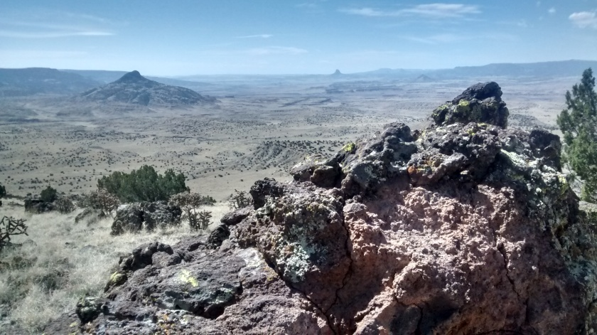 View to southwest across Rio Puerco Valley with a couple of the other volcanic cones.