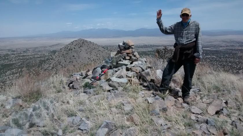 At the summit looking north towards Santa Fe.
