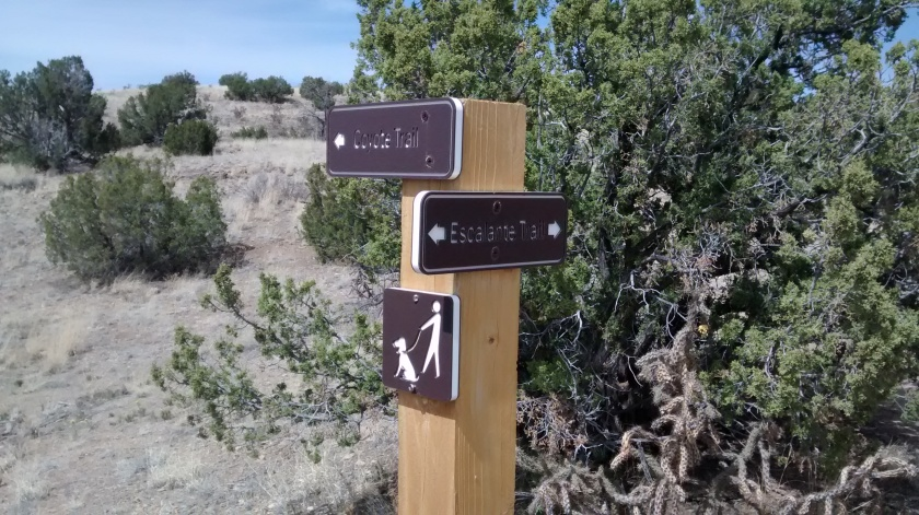 Lots of nice signposts on the trails in the State Park.