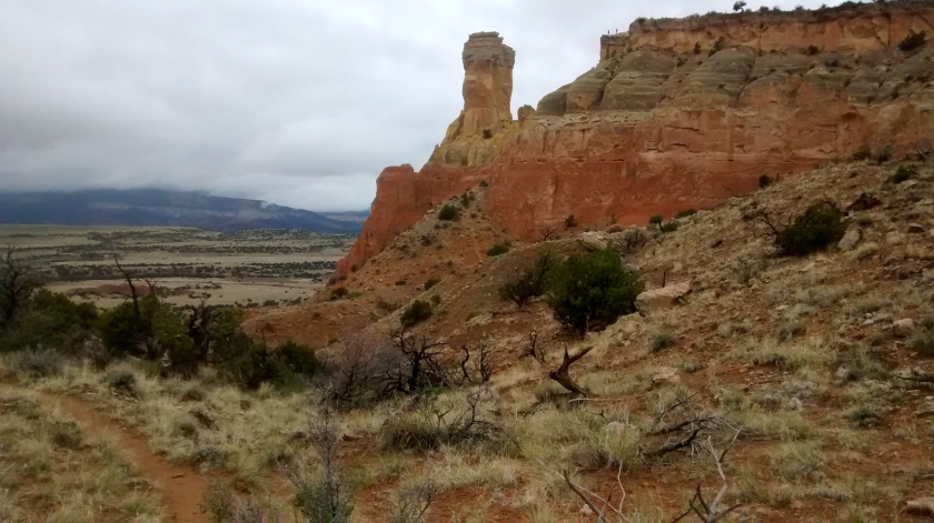 Chimney Rock in the distance.