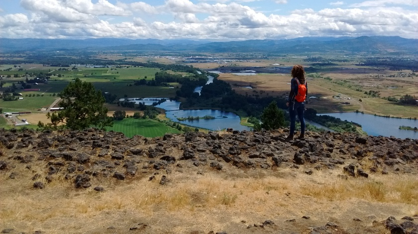 Overlooking Medford from Lower Table Rock.