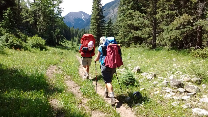 Ken and Sue continue up the trail for the backpacking trip.