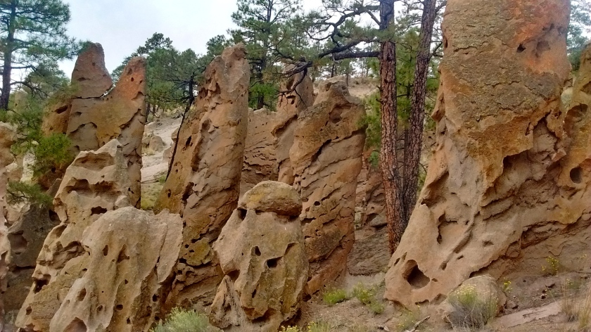Closer view of the Goblin Rocks.