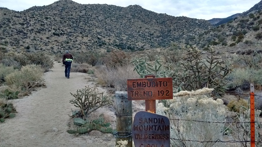 Hike for me and Lee started at Embudito Trailhead.