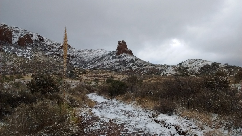 A landmark known as Chimney Rock.