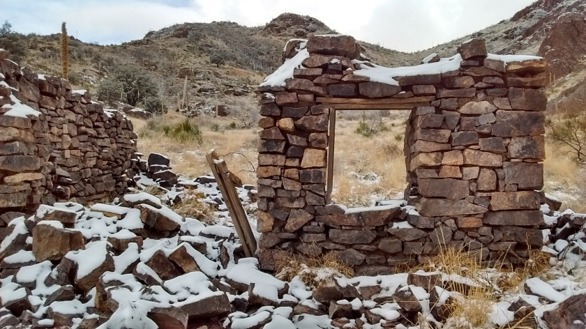 Ruins of an old homestead.