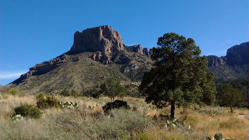 Casa Grande, one of the highest (7200 feet) peaks in the Chisos, but not one to climb.