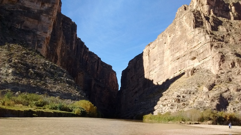 Rio Grande River as it comes out of Santa Elena Canyon.