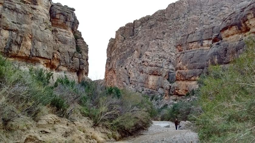 Exploring Dog Canyon.