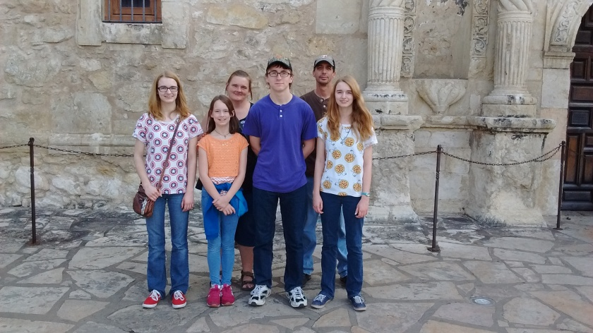 Our visit with the Malloy's included a day trip to San Antonio. Everyone learned some history at the Alamo.
