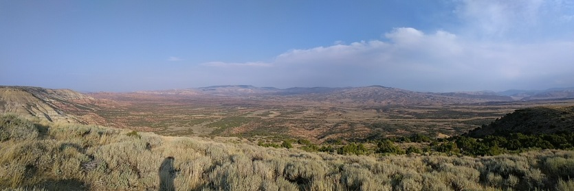Scenic view on Hwy 191 approaching Rock Springs from the south.
