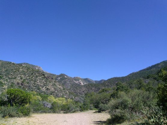 Trailhead at Trigo Canyon.