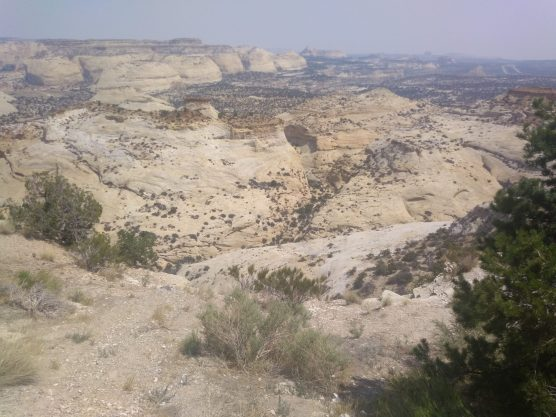 Overlook along Interstate 70 into northwest portion of San Rafael Swell.